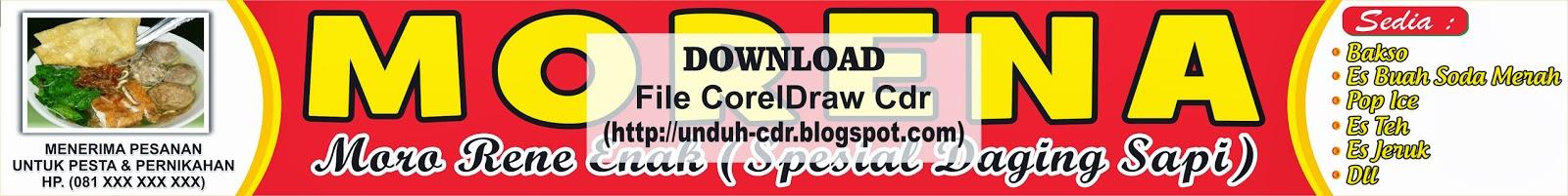 Design Banner Warung Bakso Morena File Cdr   Omah Corel