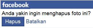 cara menghapus foto facebook otomatis