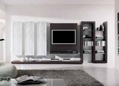 Sala de Estar com TV, branco