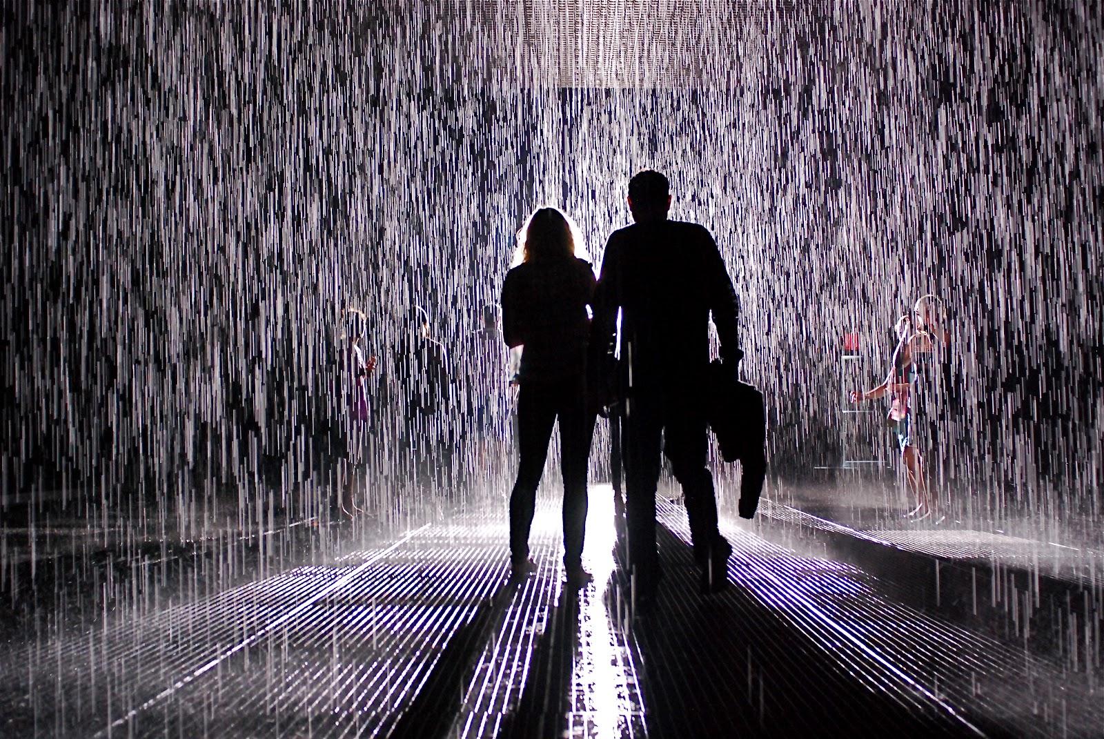 Nyc Nyc Rain Outside And Inside Quot Rain Room Quot Art