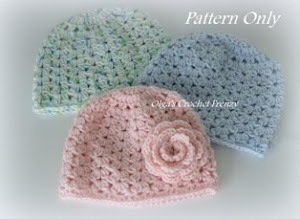 Clusters Baby Beanie Pattern, Size 3-6 Months, $1.95