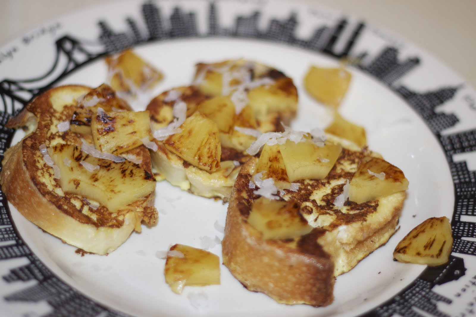 Spicy Club Sauce: Coconut French Toast with Grilled Pineapple