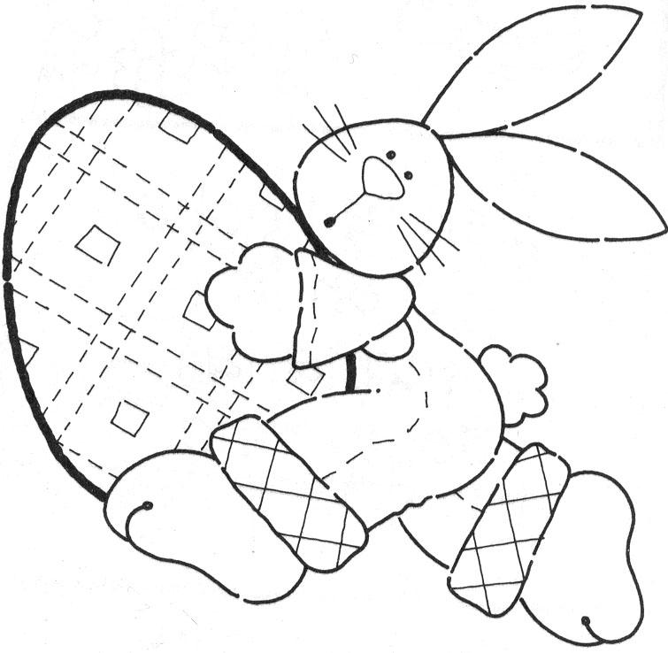 pintar desenhos Coelhinhos da Páscoa com seus Ovos