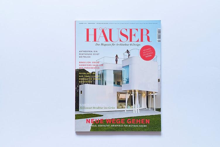 Häuser Magazin 1/15 veröffentlicht die Villa von Pape+Pape