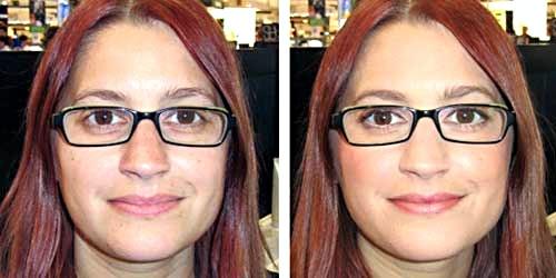 maquillaje nude antes despues