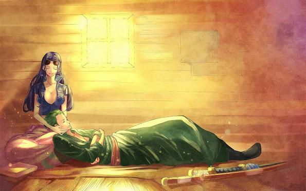 roronoa zoro and nico robin one piece anime image picture hd wallpaper