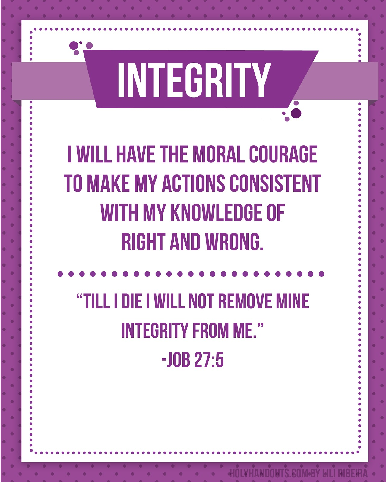 integrity and values Core values are a thing which need to be held close to your heart for the whole of your life and among them, integrity holds down an important position.