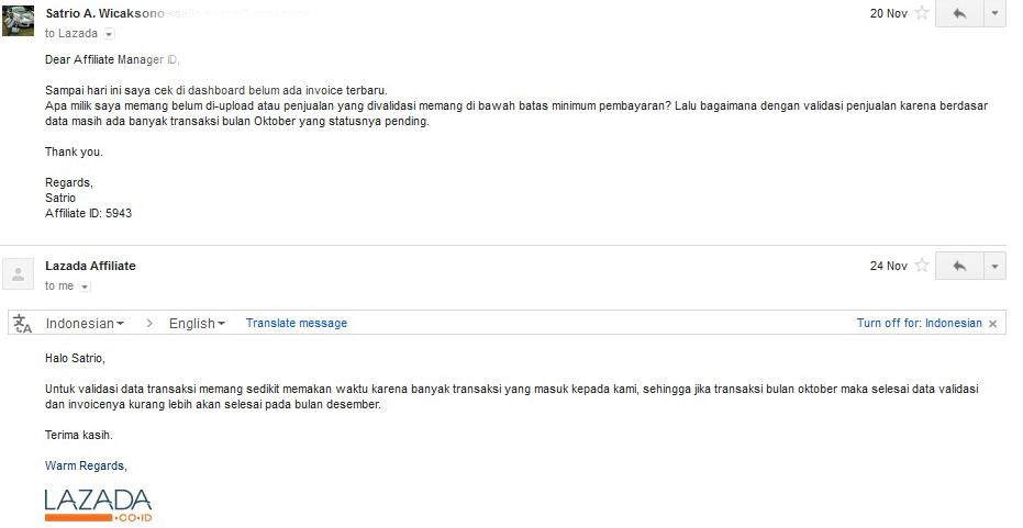 Afiliasi Lazada Indonesia
