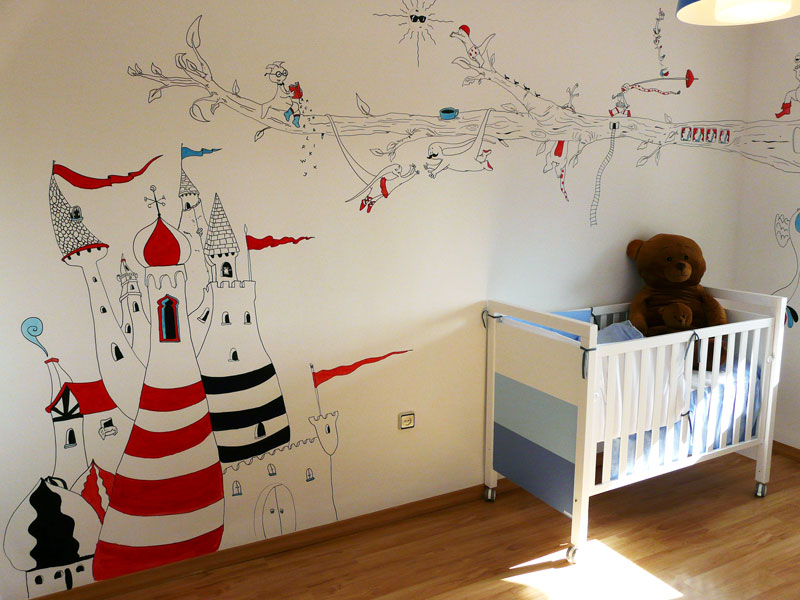 Garabatos y monigotes - Dibujos para habitaciones de bebe ...