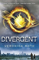 Book cover of Divergent by Veronica Roth (YA dystopian set in Chicago)