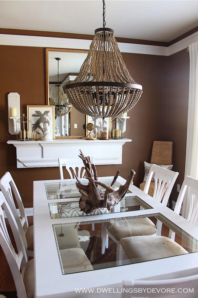 world market beaded chandelier - Wood Bead Chandelier