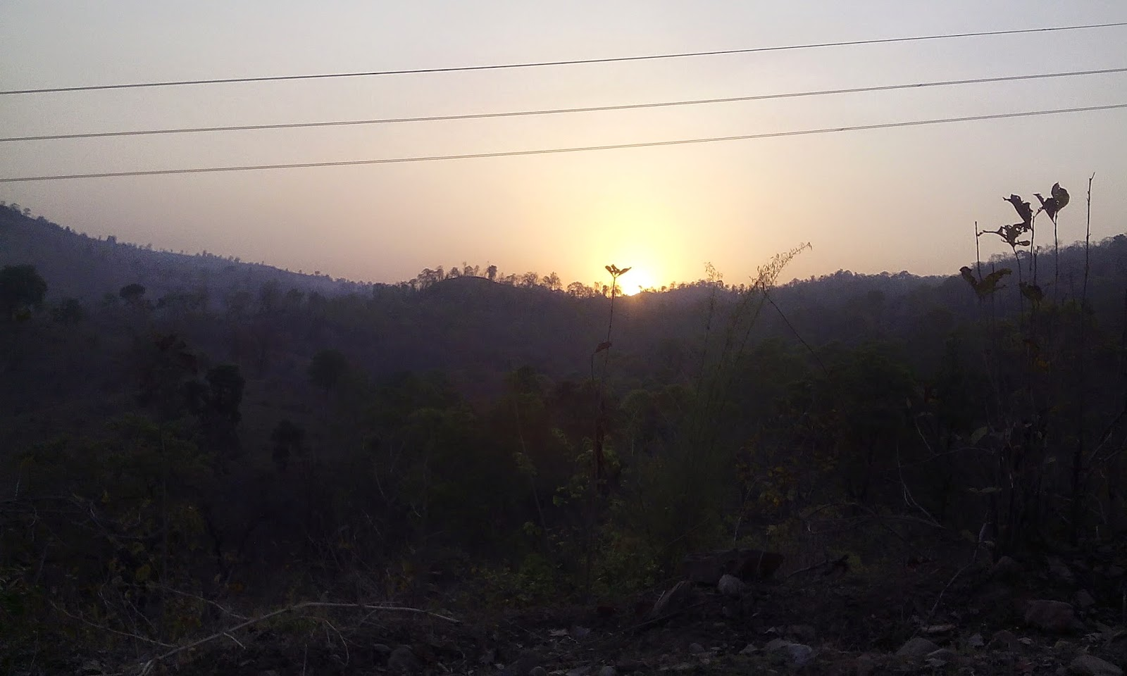 sunrise image in satpura