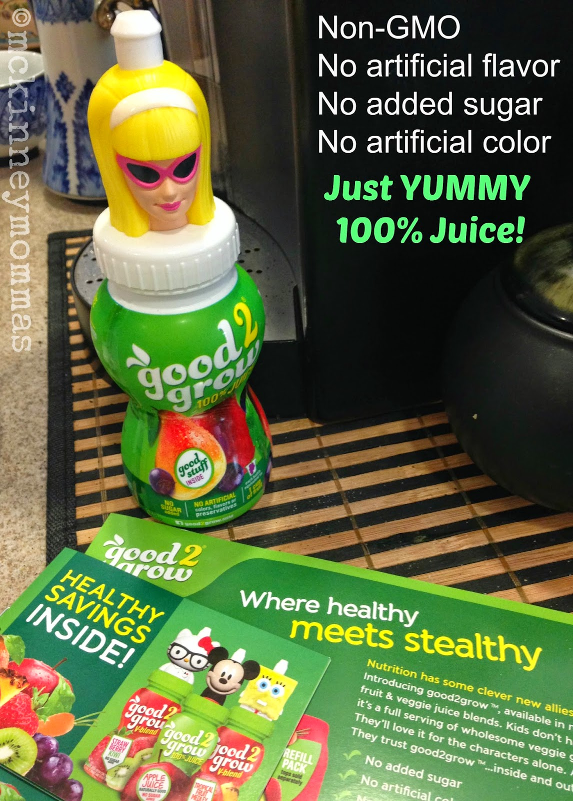 100% natural juice, mckinney mommas