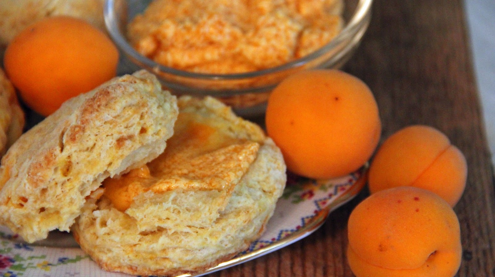 Jo and Sue: Apricot Scones with Apricot Honey Butter