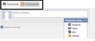 membuat komentar facebook dan blog