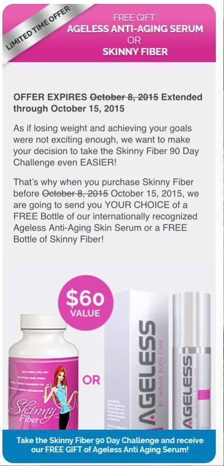 free skinny fiber promotion