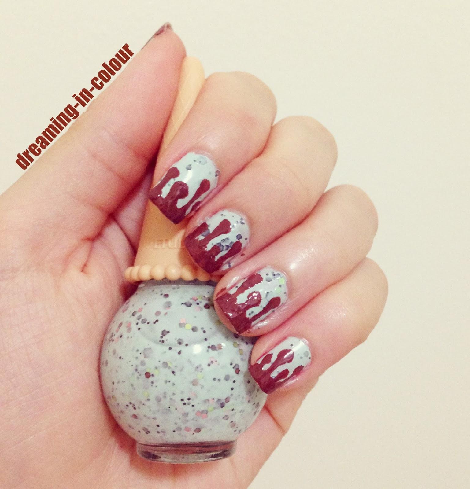 Nail Art Sweet Bits Ice Cream Drip Nails