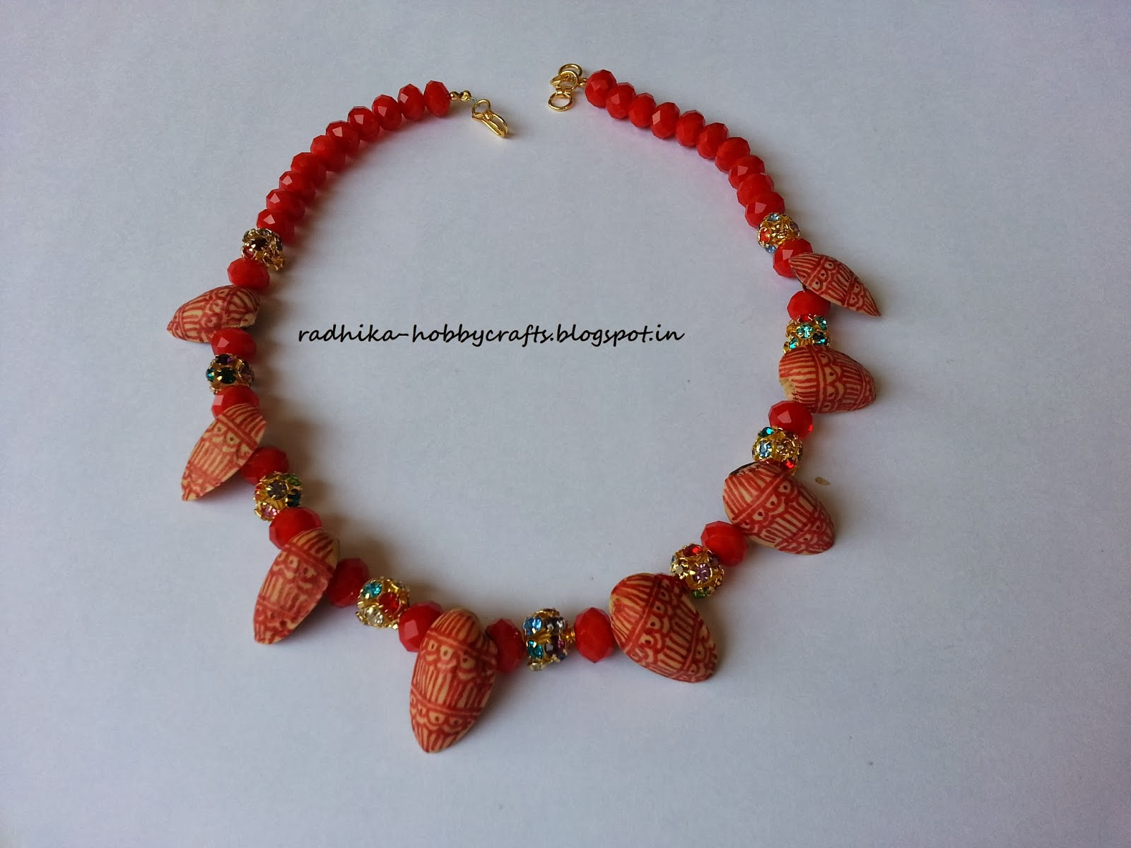 hobby crafts pistachio shell necklace