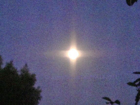 inspiring moon shines like cross photo 9-11 memorial