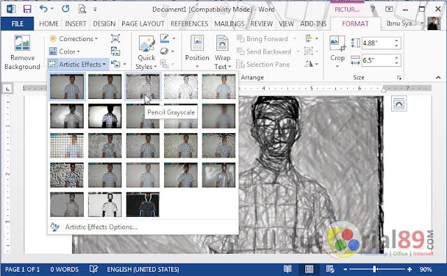 Cara membuat efek artistik pada foto di word