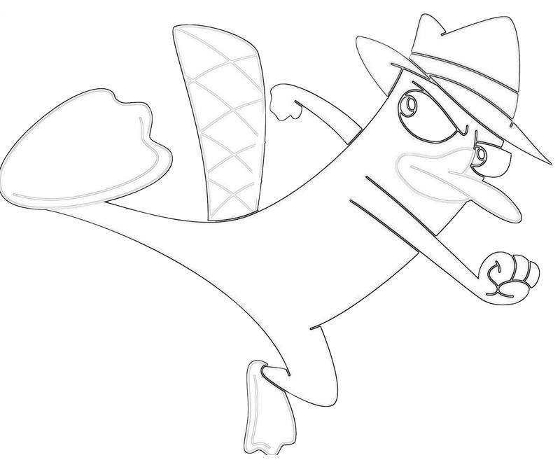 perry-the-platypus-kick-coloring-pages