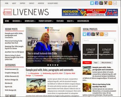 LiveNews Blogger Template