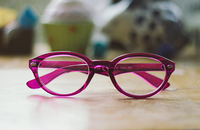 purple cat eye reading glasses from tiger