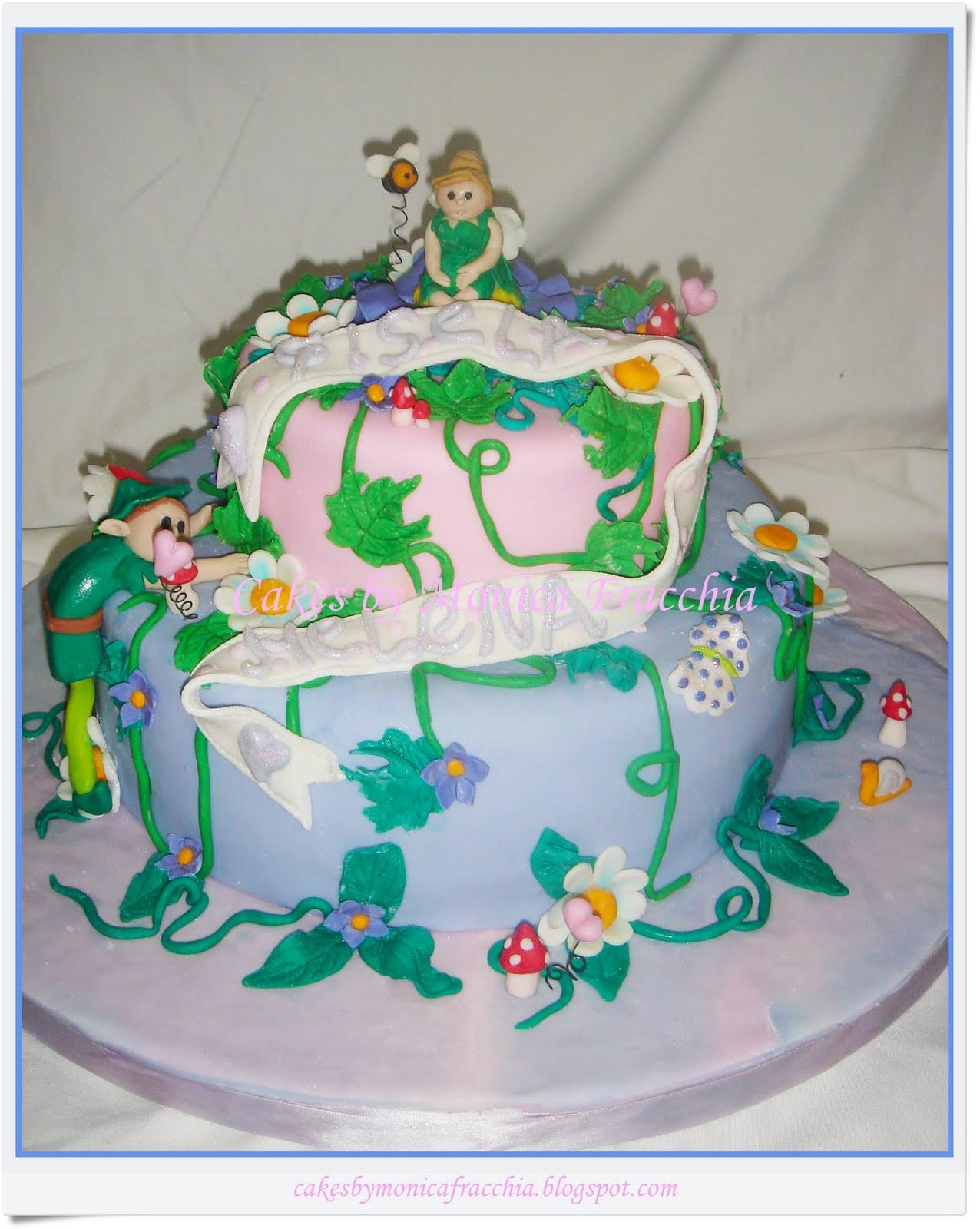 TORTA DECORADA DE CAMPANITA / TIMKERBELL CAKE | TORTAS CAKES BY ...