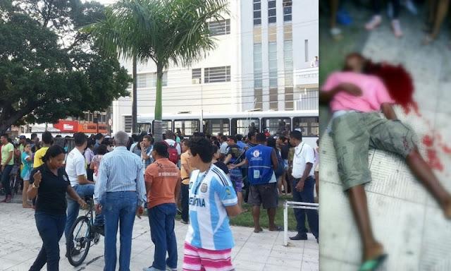 Homem é baleado e morre na praça General Valadão no centro de Aracaju