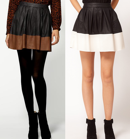Fallon Confidential: Designer vs. Deal: Leather Skirts