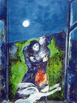 E citazioni amore e sensualit in poesie romanzi film musica for Chagall tableau