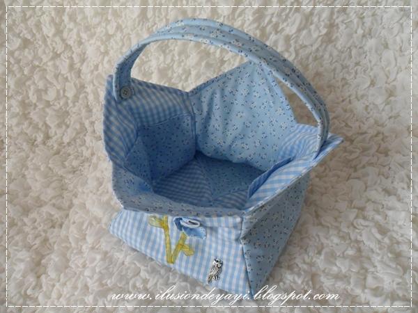 De todo un poco cesta de tela - Cestos de tela ...