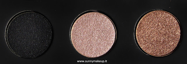 Make Up For Ever - Palette Artist Nude. Palette di ombretti Artist Shadow. Da sinistra verso destra: S - 102, I - 544, D - 652.