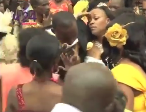 Photos: Pastor disgraced after women storm his wedding claiming to be married to him