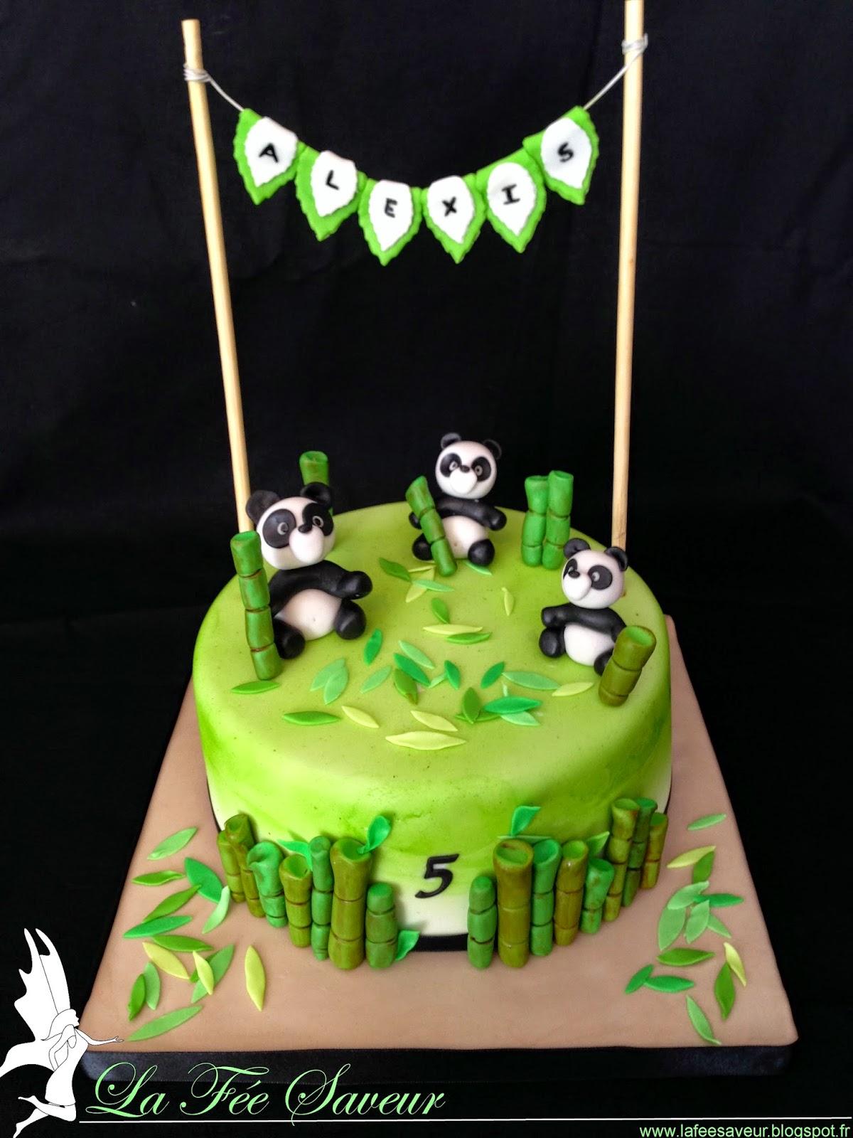 Célèbre La Fée Saveur.: Gâteau pandas en pâte à sucre MP59