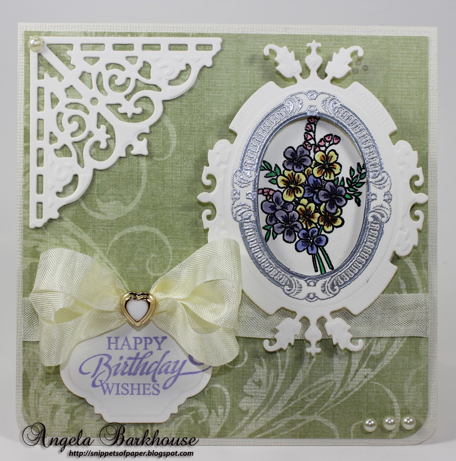 I Chose The Beautiful Bouquet Included In Shoes Vintage Labels Six Cling Set Colored With Copics Silver Frame Is Also
