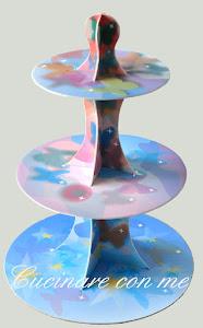 Alzata per muffin fantasia farfalline