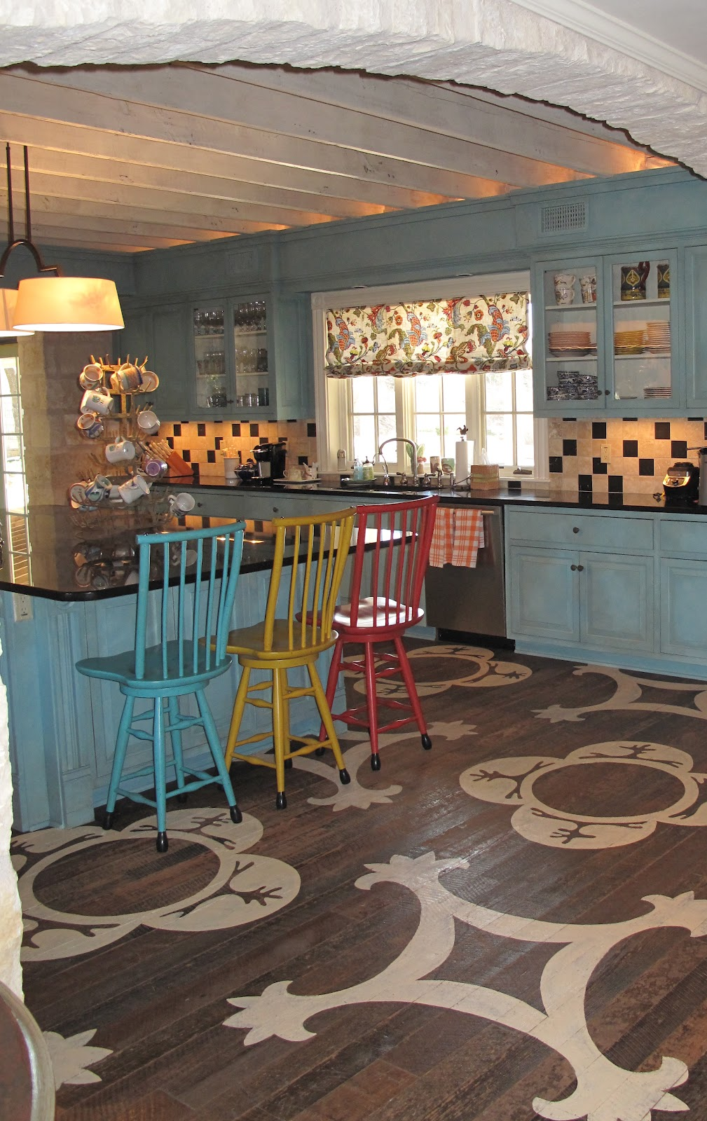 Hill country house kitchen joy Hill country wood flooring