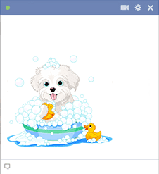 Bubble Bath Puppy Emoticon
