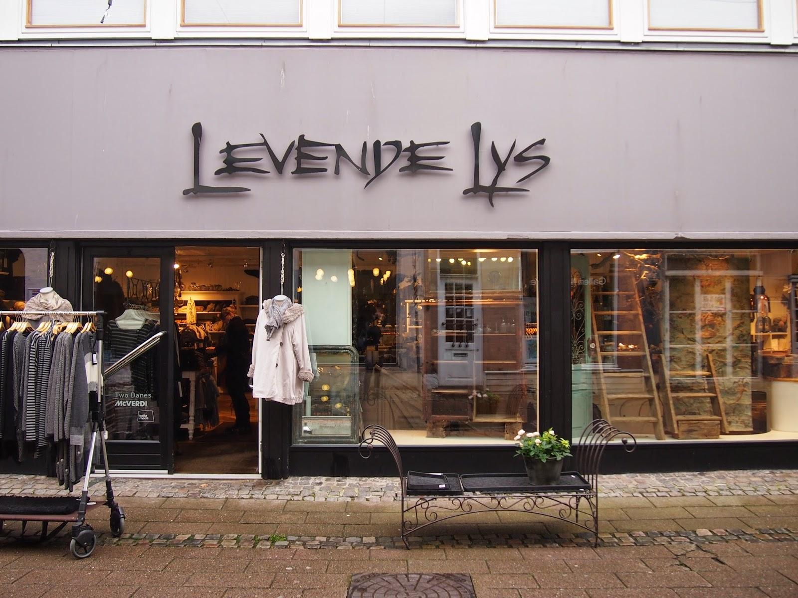 Levende Lys shop in Helsingor