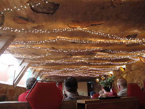 How To String Christmas Lights On Ceiling : a simple life afloat: String Lights as Ceiling Lights