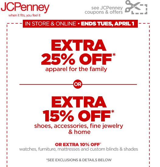 Jcpenney coupons codes