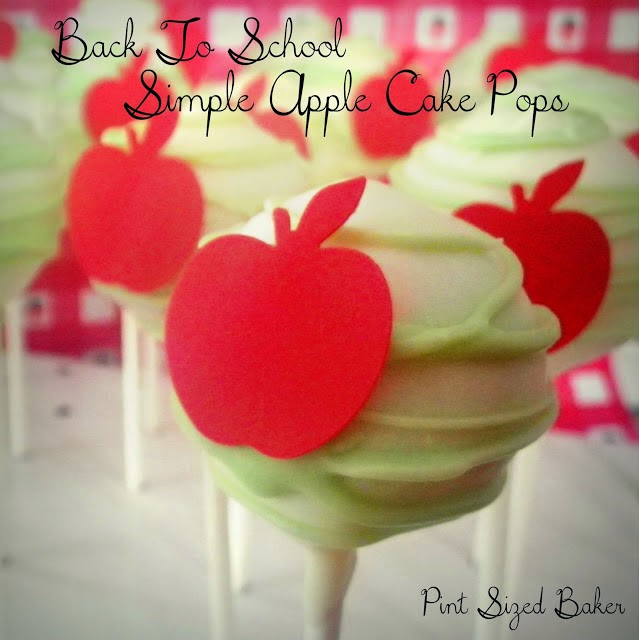 Cheat and use edible paper and punch out Apples for Cake Pops.