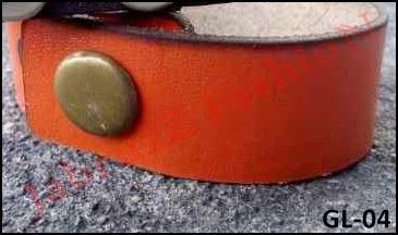 Jual Gelang Kulit Sapi Custom Orange - GL-04