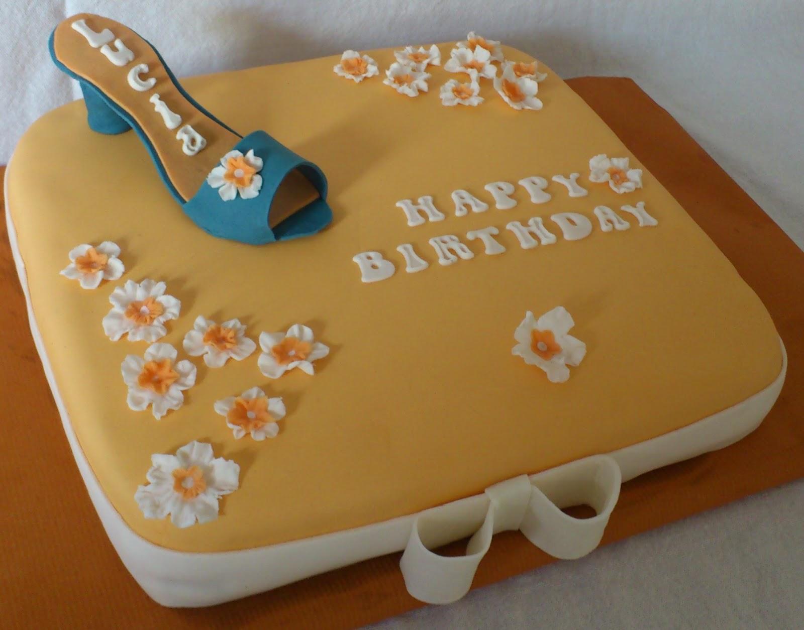 süßes sonst wird\'s herzhaft..: Schuh-Geburtstagstorte :-)