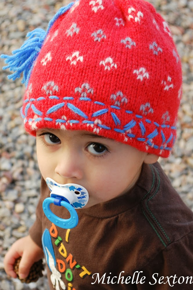 Make a beanie from a sweater sleeve with a minimal amount of sewing - click through and learn how