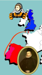 Map of Spanish Armada