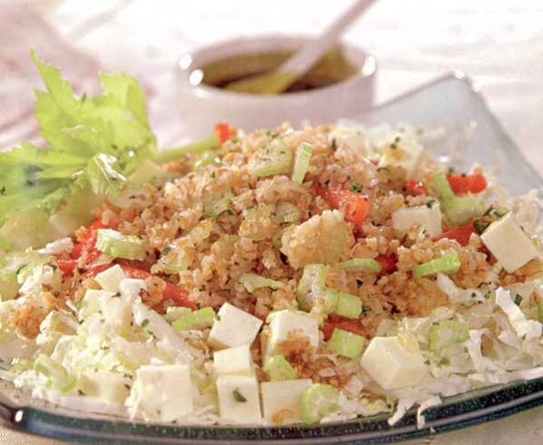 Ensalada de trigo con queso el chef dice - Ensalada de arroz light ...