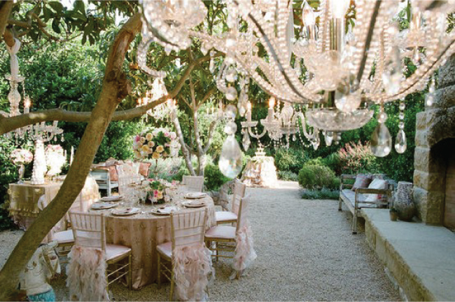 French country style in a beautiful garden
