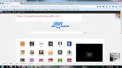 Tampilan Mystartsearch di firefox